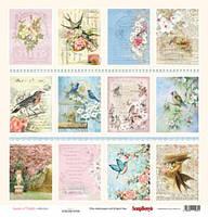 """Карточки для скрапбукинга """"Птицы в саду""""  1 шт.  30х30см"""