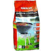 Уголь древесный Grilly 3 кг