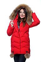 Куртка женская зима HAILUOZI H 17-36 красный