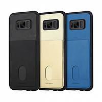 TPU чехол ROCK Cana Series для Samsung G955 Galaxy S8 Plus (+ карман для визиток), Черный / Black (00000018591)