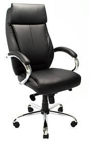 Кресло Монреаль Хром кожзам черный (Richman ТМ)