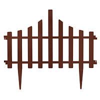 Ограждение для газона Заборчик 65x55 см темно-коричневый