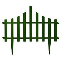 Ограждение для газона Заборчик 65x55 см зеленый