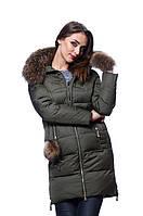 Куртка женская зима   PEERCAT P17-596 хаки