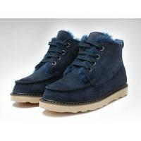 Мужские Угги на меху синие UGG David Beckham Boots Dark Blue