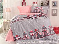 Комплект постельного белья  Hobby поплин размер полуторный Linda серый