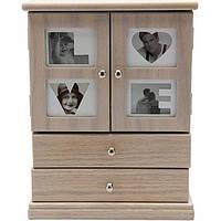 Шкаф для украшений бежевый 20.9x11.7 см
