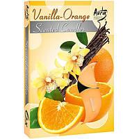 Набор арома-свечей Bispol p15-37 ваниль/апельсин 6 шт