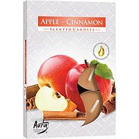 Набор арома-свечей Bispol p15-87 яблоко/корица 6 шт