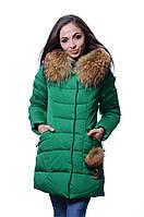 Куртка женская зима PEERCAT P 17-021 зеленый
