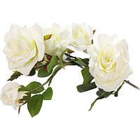 Искусственное растение Роза белая 99 см