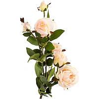 Искусственное растение Роза кремовая 73 см