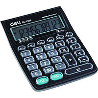 Калькулятор бухгалтерский Deli 1278 черный
