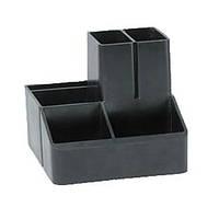 Подставка для ручек, 6 отделений черная
