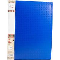 Папка с прижимом Optima Clip B O30689 вышиванка