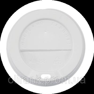 Крышка для бумажного стакана КВ - 88 белая 50шт уп  40уп/ящ (для 500 ст)