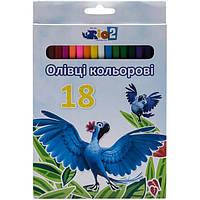 Карандаши цветные Rio 18 шт