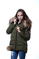 Куртка женская зимняя FINEBABYCAT 122 хаки
