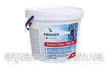 Шоковый хлор для бассейна Froggy Shock Chlor Tabs 4 кг (таблетки 20 гр)