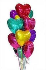 Фольгированные сердца гелием  45 см.