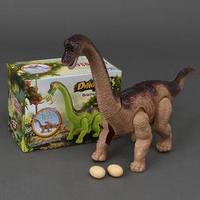 Динозавр 802 А  подсветка, звук, несёт яйца, на батарейке, в коробке