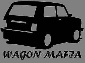 Вінілова наклейка на авто мафія (від 15х15 см)