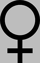 Виниловая наклейка на авто - Пол  женский (от 10х5 см)