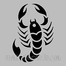Виниловая наклейка на авто - Скорпион (от 15х11 см)