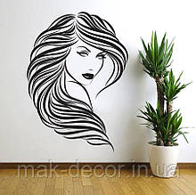 Виниловая наклейка- волосы (от 50х40 см)