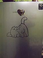 Виниловая наклейка на холодильник ( Влюбленные) от15х15 см