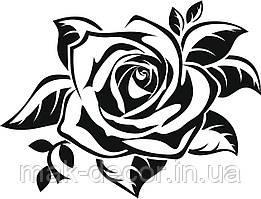 Виниловая наклейка- Роза (от 15х20 см)