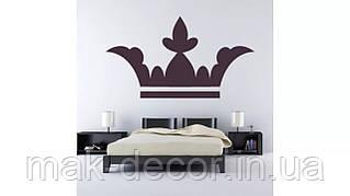 Вінілова наклейка - Корона над ліжком (ціна за розмір 55х98 см)