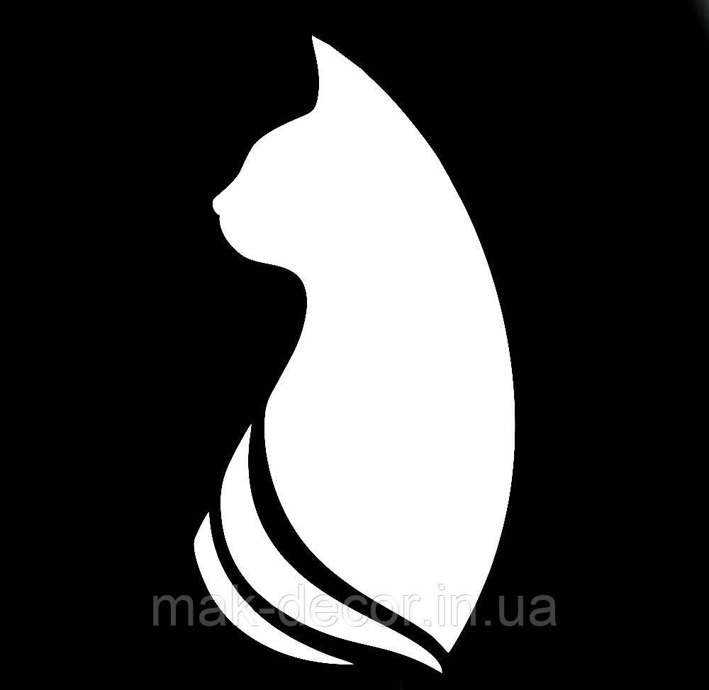Вінілова наклейка - Силует кішки