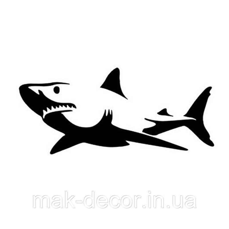 Виниловая наклейка- Акула 0
