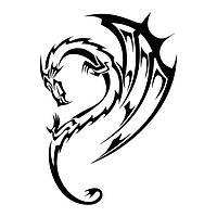 Виниловая наклейка- Дракон(47) (от 15х8 см)