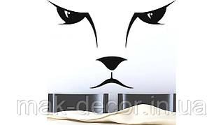 Вінілова інтер'єрна наклейка - Мордочка кота (ціна за розмір 60х88 см)