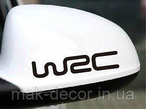 Вінілова наклейка на авто - WRC 3х15 см