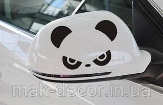 Вінілова наклейка на авто - на дзеркало(панда)