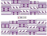 Слайдер  для ногтей BN-245 Новогодний дизайн