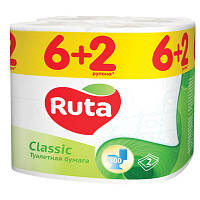 Бумага туалетная Ruta Classic 8 шт