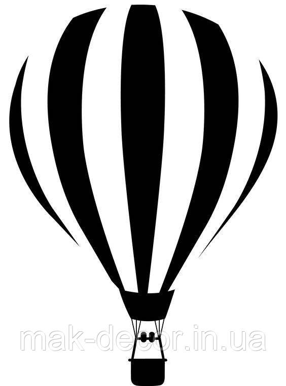 Вінілова інтер'єрна наклейка - Повітряна куля 15х12 см