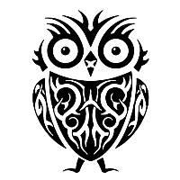Виниловая наклейка- Сова (4)