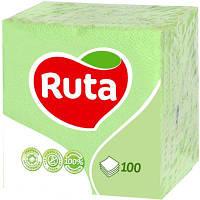 Салфетки Ruta зеленые 100 шт