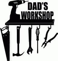 Виниловая наклейка- DAD S WORKSHOP