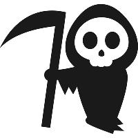 Вінілова наклейка - Смерть з косою (від 15х15 см)