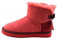 Женские UGG Mini Bailey Bow 78 Red красные угги с бантиком