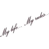 Виниловая наклейка на авто My life my rules (от 5х40 см)