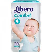 Подгузники Libero Comfort Fit 4 7-14 кг 20 шт