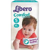 Подгузники Libero Comfort Fit 5 Maxi Plus 10-16 кг 18 шт