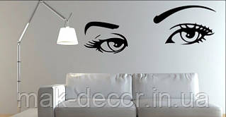 Виниловая наклейка-Брови глаза 36х98 см